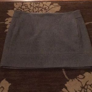 JCrew grey skirt with side packets.